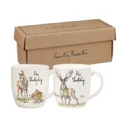 Churchill Country Pursuits Her Ladyship & His Lordship Set of 2 Mugs